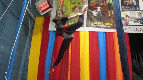 aerial silks workshop at Circus Mojo in Ludlow, KY (Cincinnati)