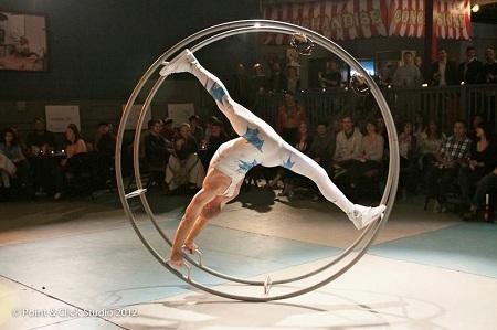 Wolfgang Bientzle, gym wheel, Circus Mojo, circus acts